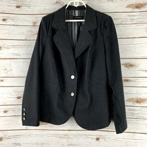 Lane Bryant Jean Denim Jacket Blazer Sz 18 black